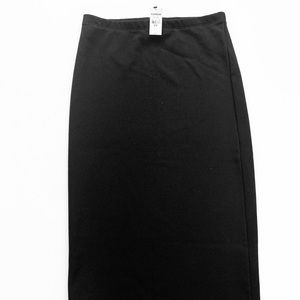 Express black knee length bodycon pencil skirt